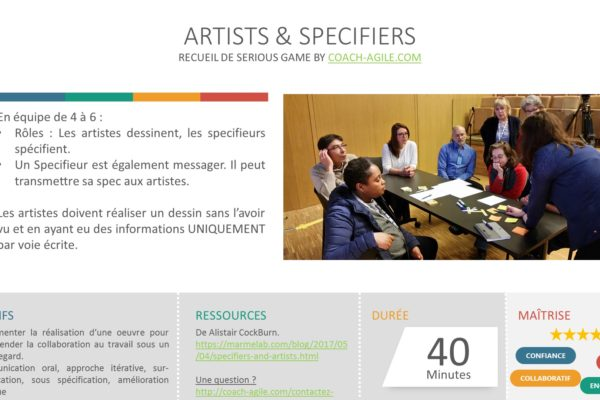 SERIOUS GAME : ARTISTS & SPECIFIERS