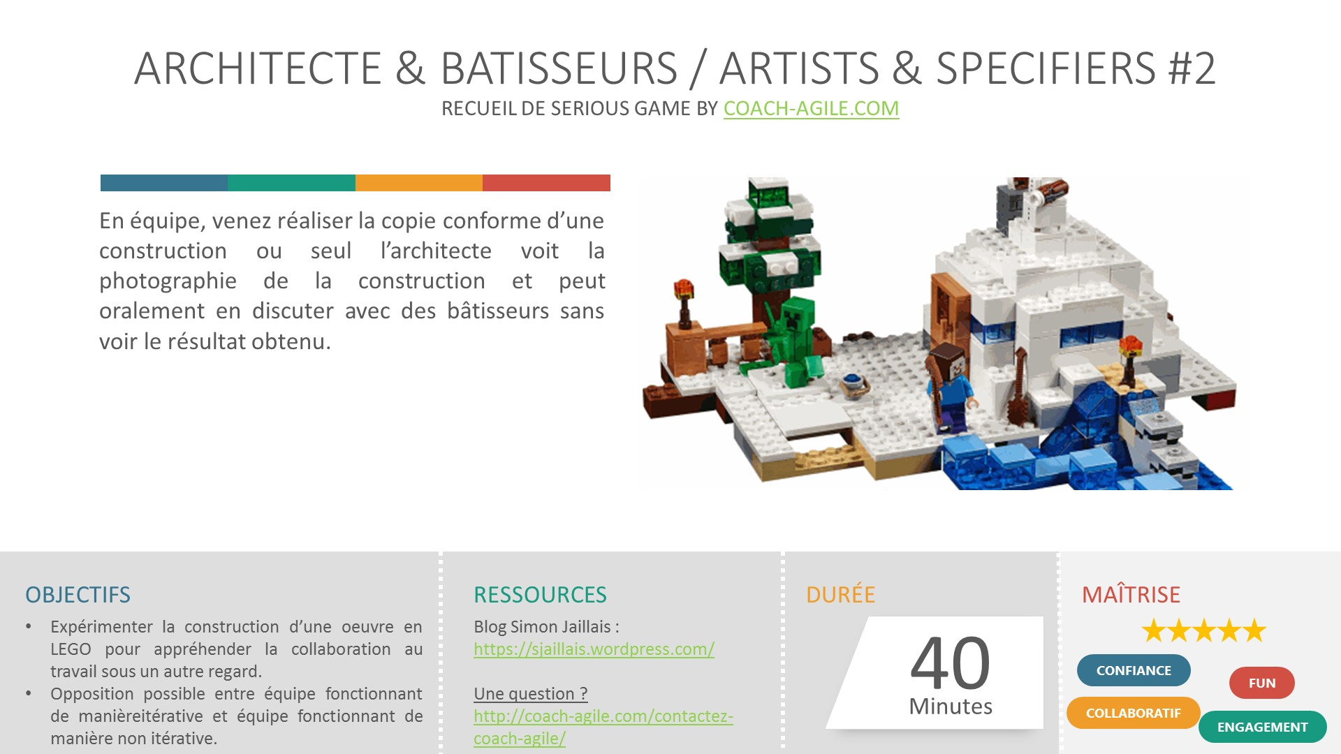 SERIOUS GAME : ARCHITECTES & BATISSEURS