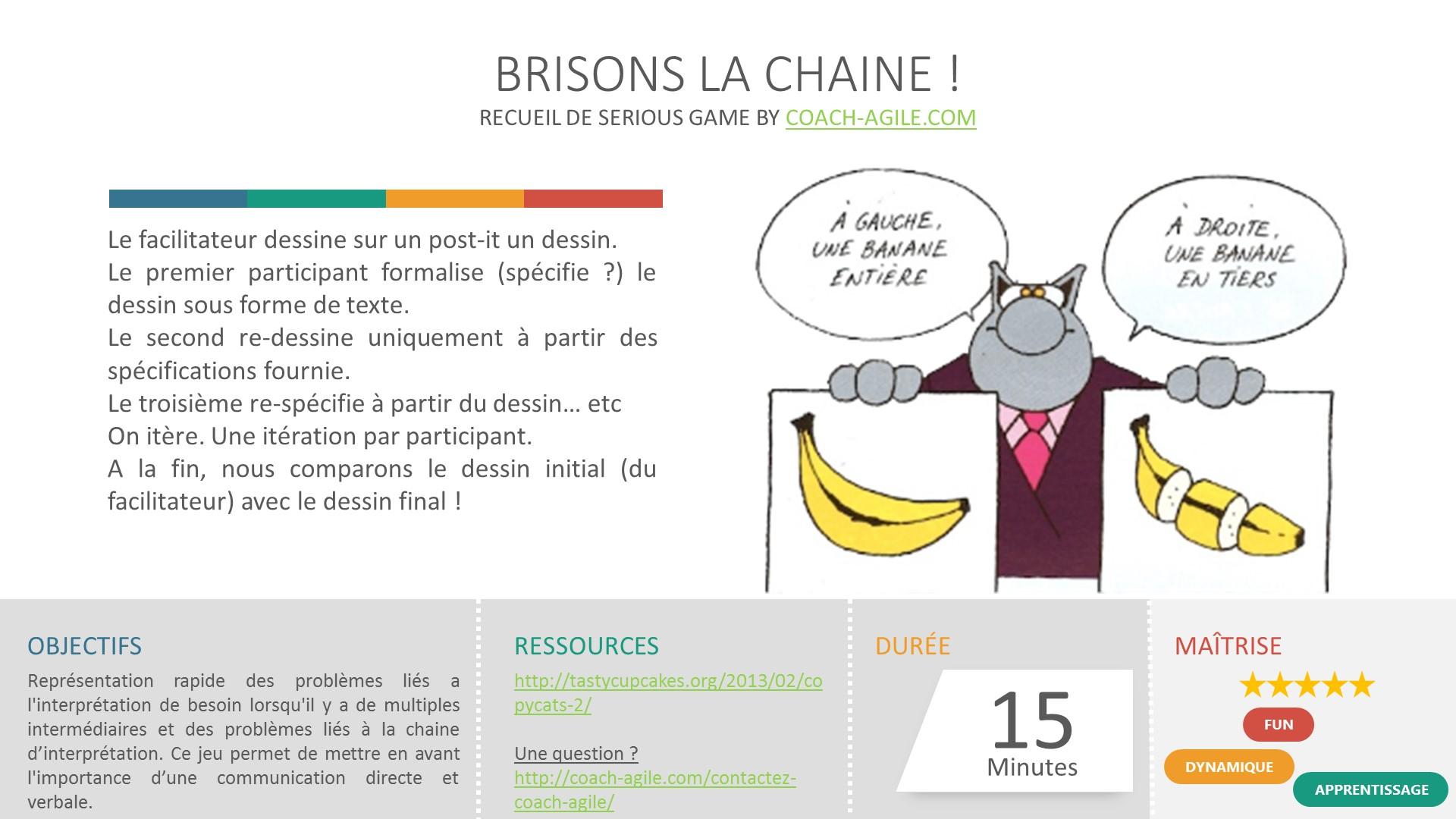 SERIOUS GAME : BRISONS LA CHAINE
