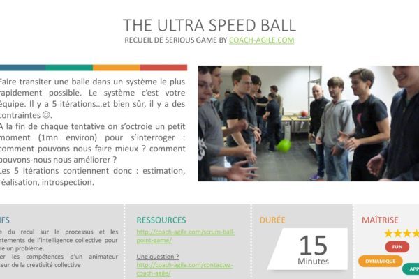 SERIOUS GAME : THE ULTRA SPEED BALL