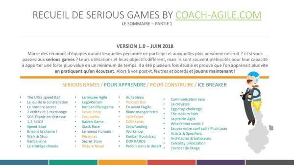 SERIOUS GAMES : LE RECUEIL