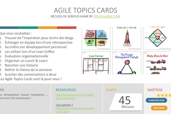 SERIOUS GAME : AGILE TOPICS CARDS