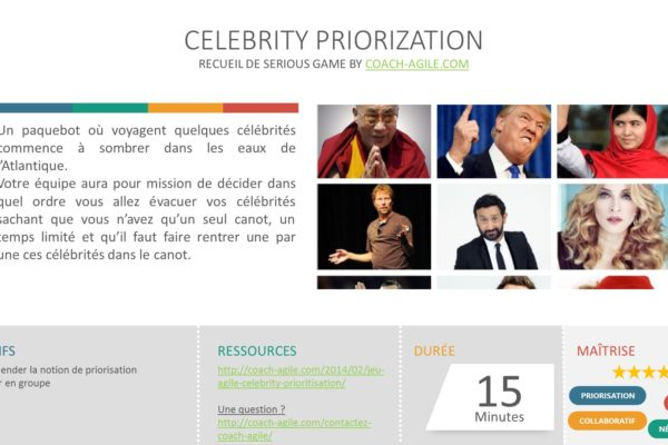 SERIOUS GAME : CELEBRITY PRIORIZATION
