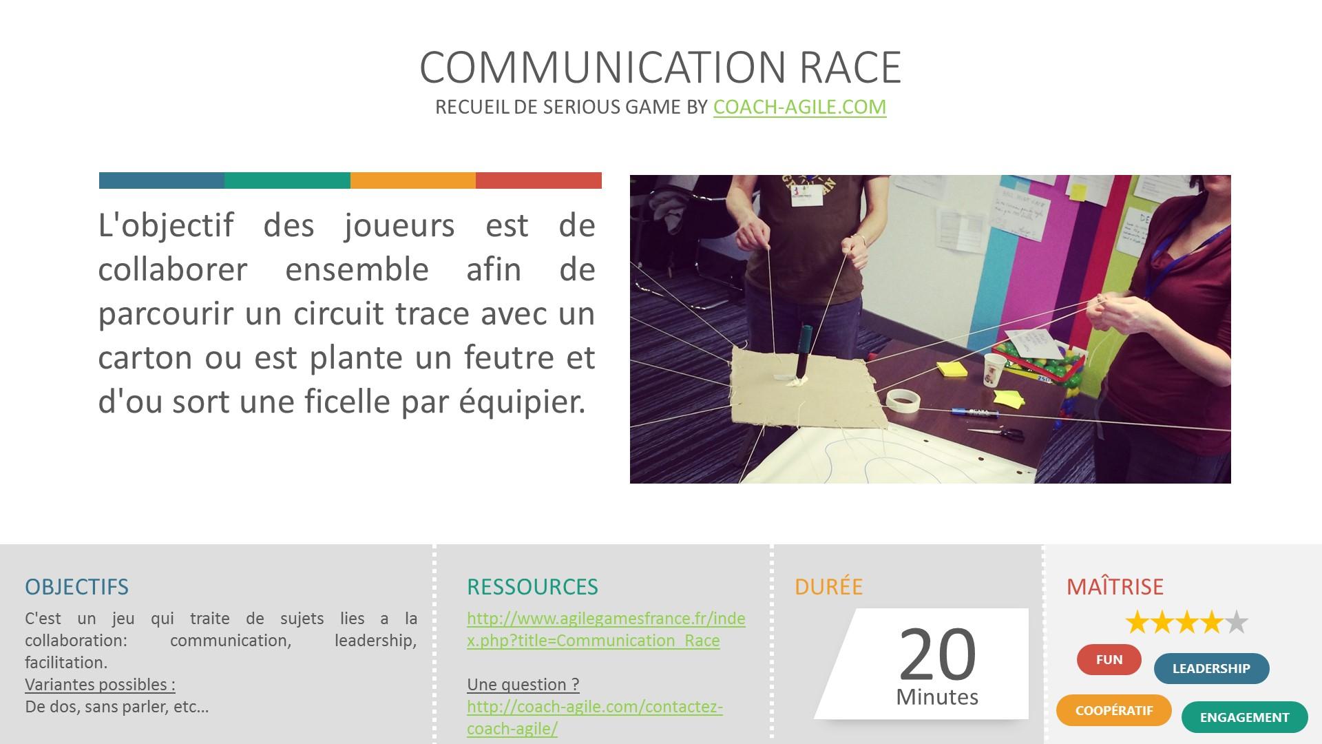 COMMUNICATION RACE