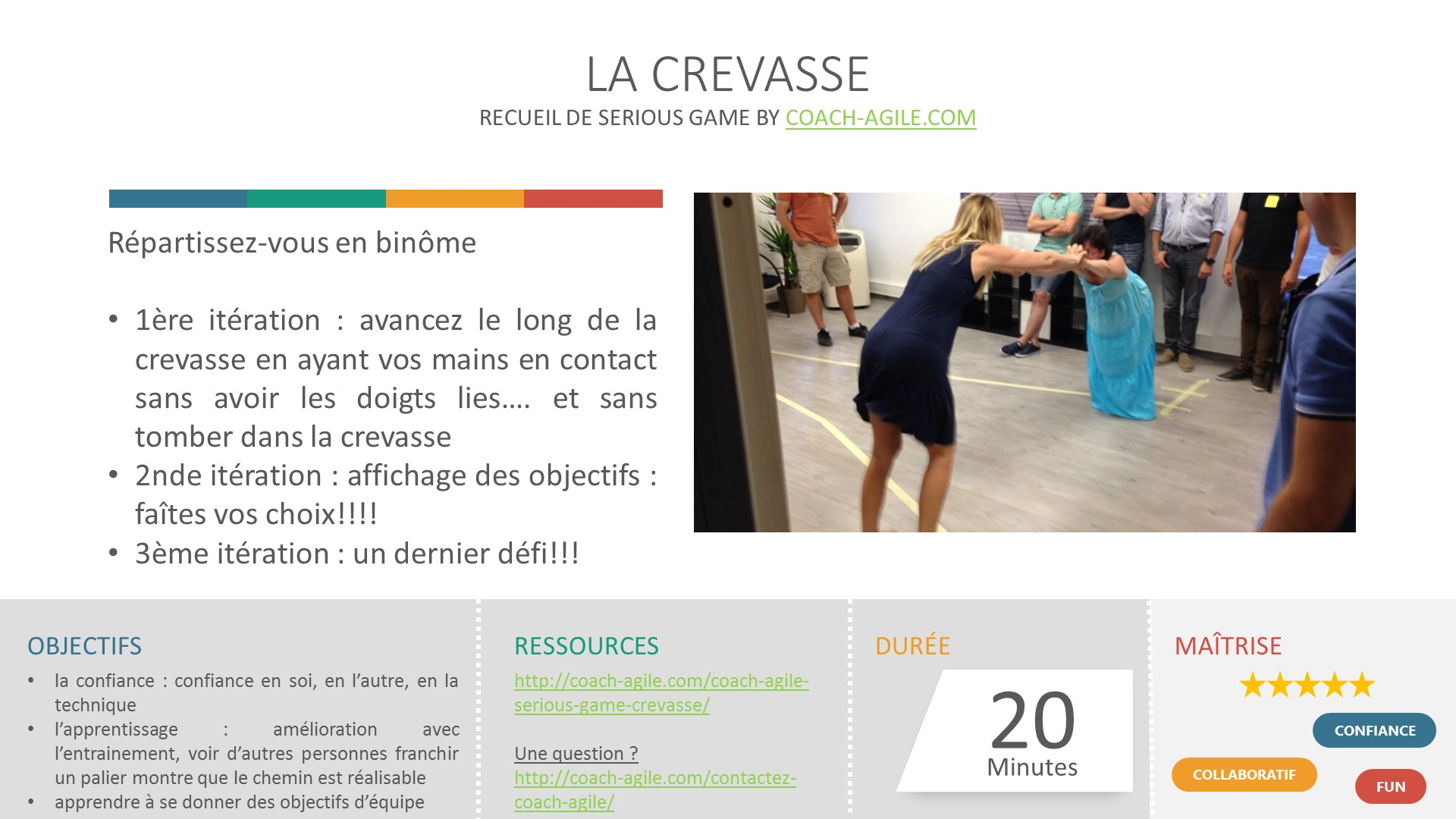 SERIOUS GAME : LA CREVASSE
