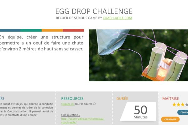 SERIOUS GAME : EGG DROP CHALLENGE