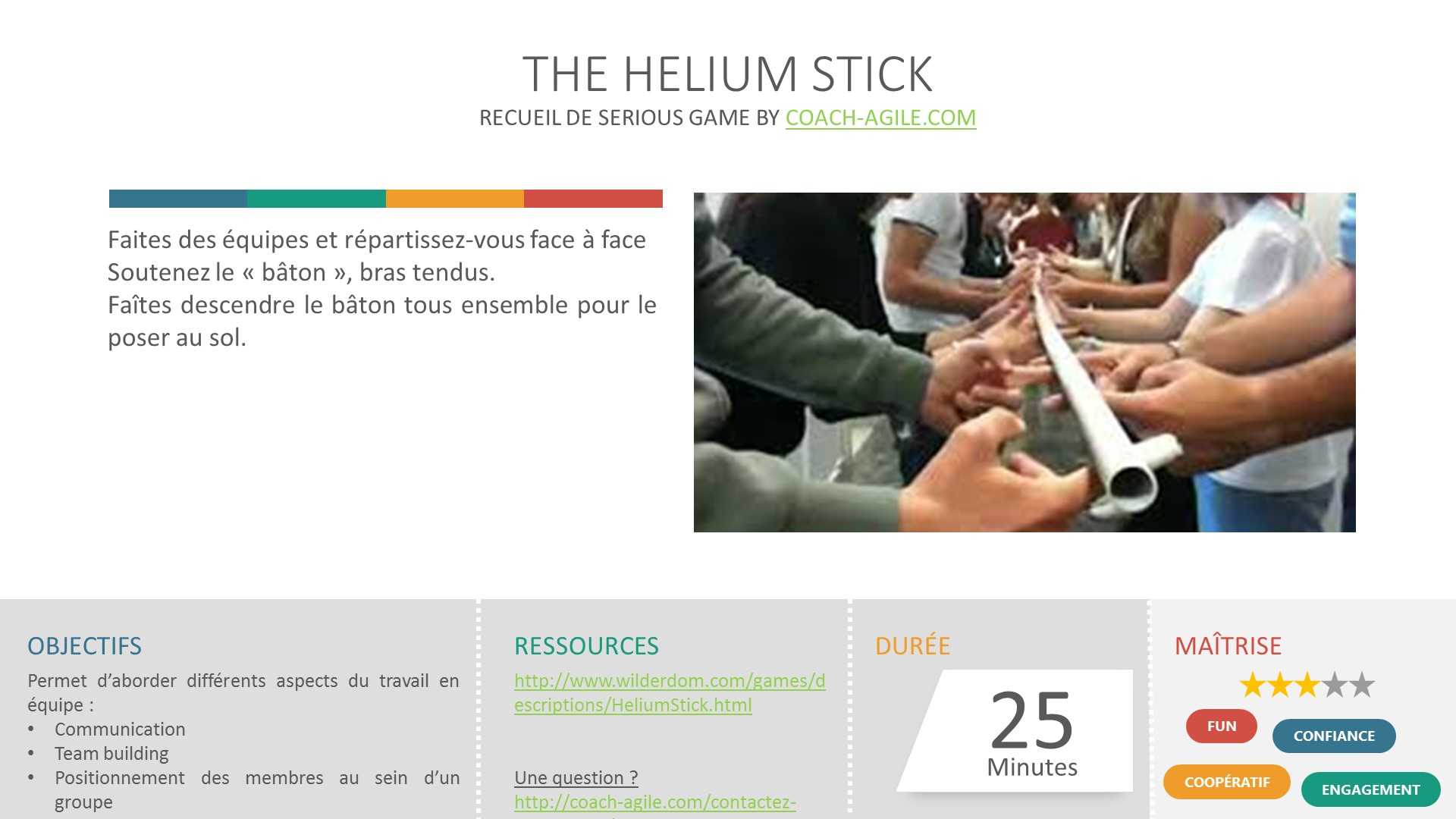 SERIOUS GAME : THE HELIUM STICK