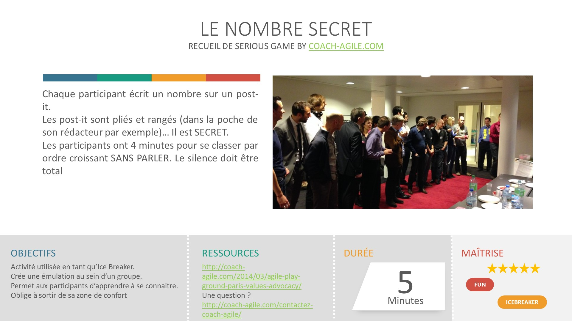 ICE BREAKER : LE NOMBRE SECRET