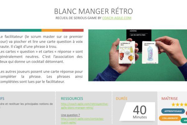 SERIOUS GAME : BLANC MANGER RÉTRO