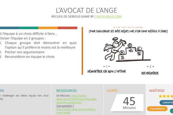 SERIOUS GAME : L'AVOCAT DE L'ANGE