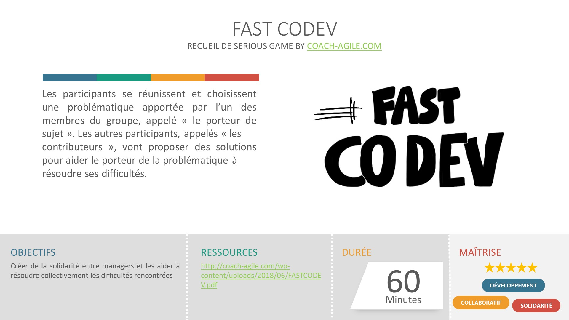 SERIOUS GAME : FAST CODEV