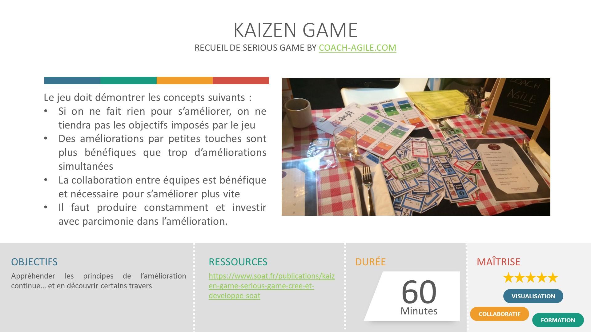 SERIOUS GAME : KAIZEN GAME
