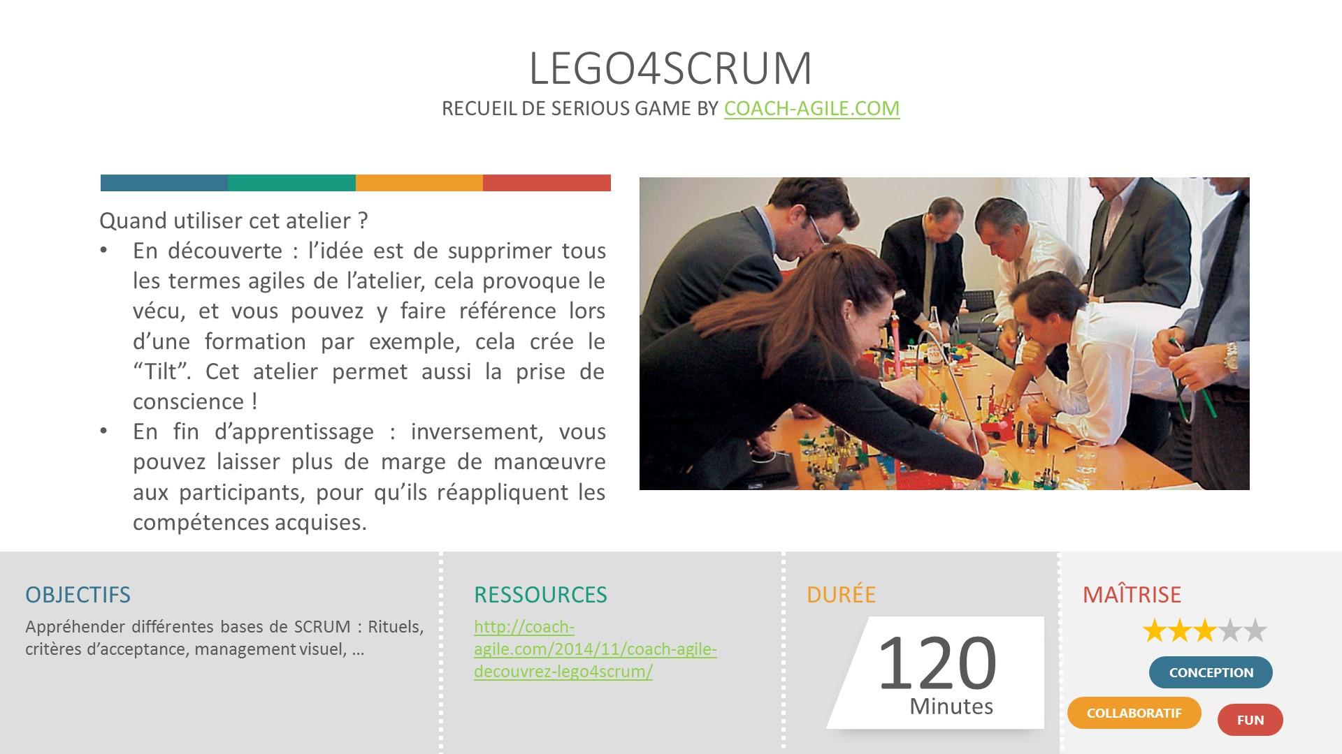 SERIOUS GAME : LEGO 4 SCRUM