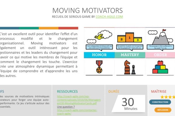 SERIOUS GAME : MOVING MOTIVATORS