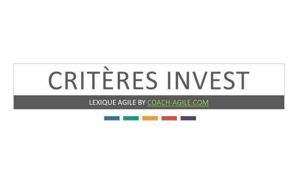 CRITÈRES INVEST