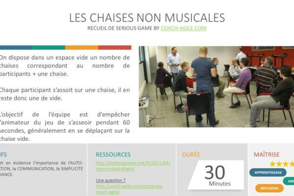 SERIOUS GAME : CHAISES NON MUSICALES