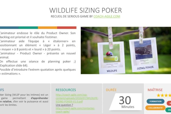 SERIOUS GAME WILDLIFE SIZING POKER