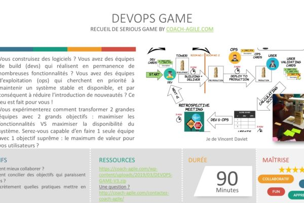 SERIOUS GAME : DEVOPS GAME