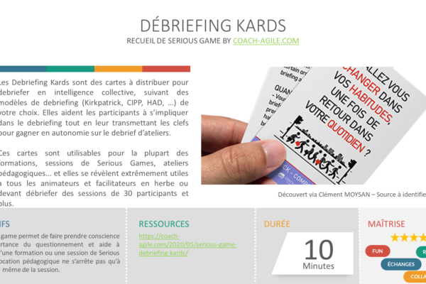 SERIOUS GAME : DEBRIEFING KARDS