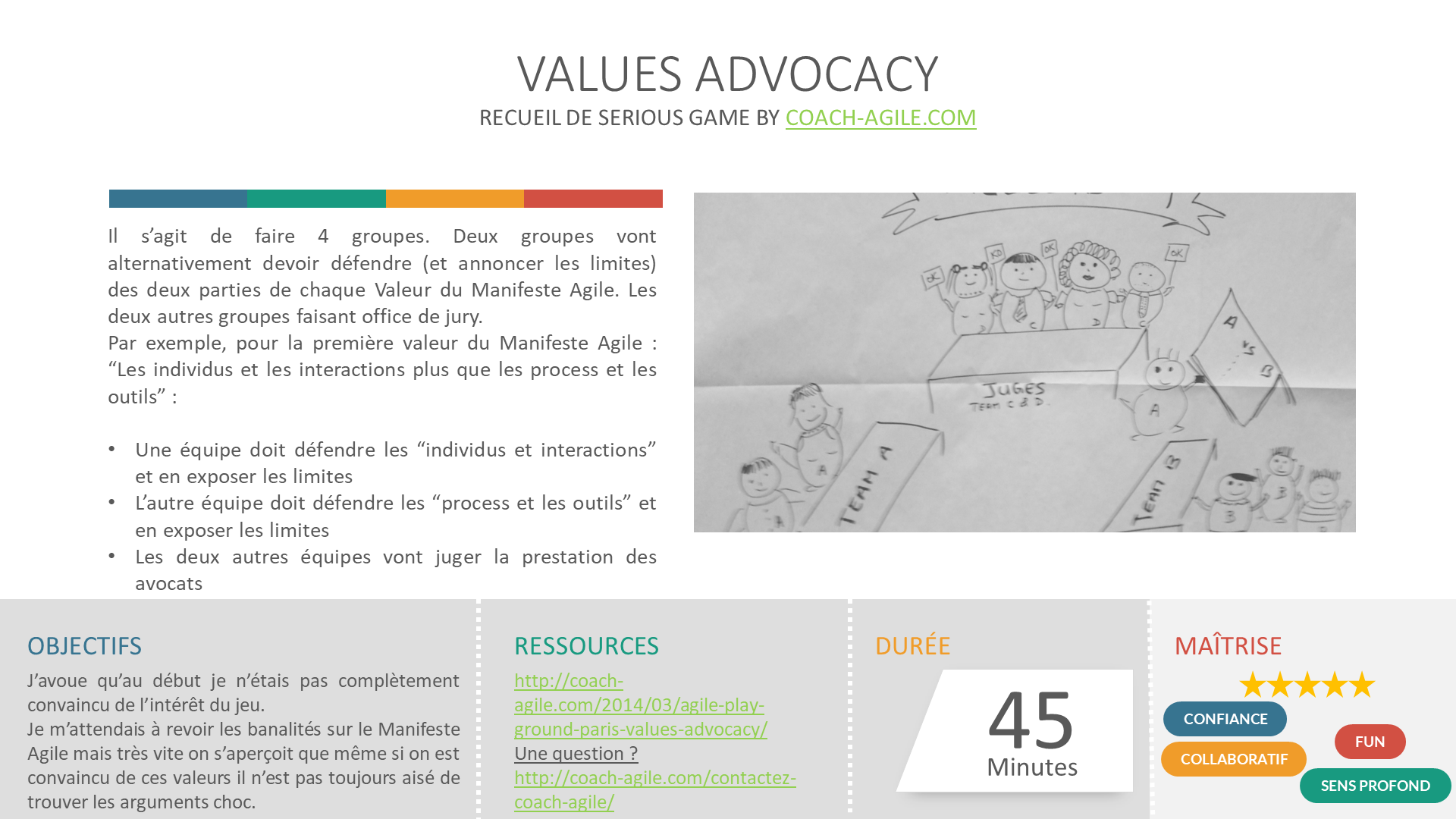 SERIOUS GAME : AGILE VALUES ADVOCACY