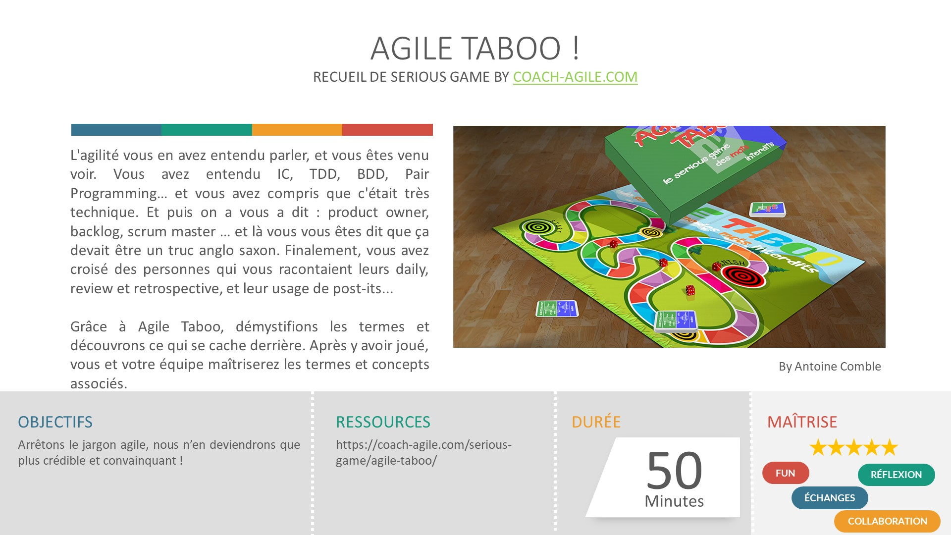 SERIOUS GAME : AGILE TABOO