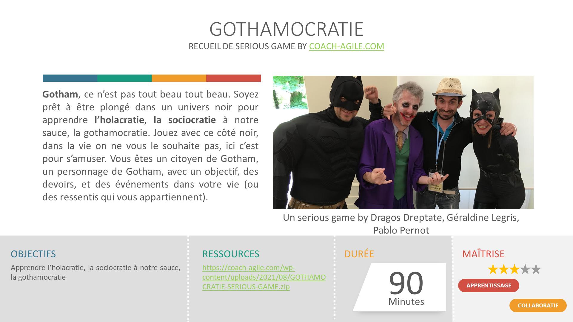 Serious game : Gothamocratie